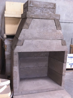 Outdoor fireplace kits info center for Prefabricated outdoor fireplace kits