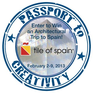 TILE OF SPAIN ANNOUNCES WINNERS OF THE PASSPORT TO CREATIVITY 2013 CONTEST