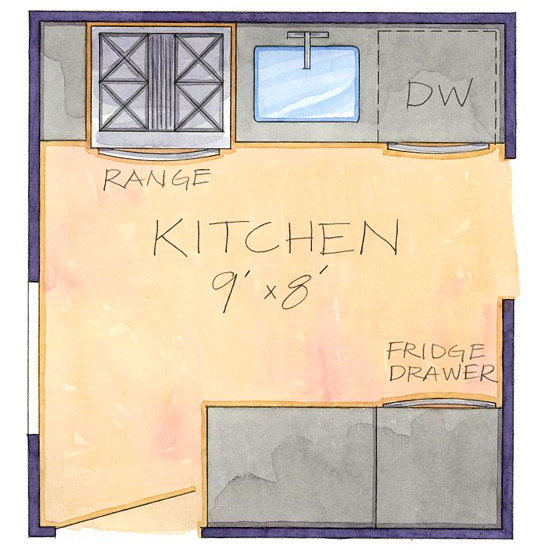 28 efficient kitchen layout efficient kitchen for Efficient small kitchen design