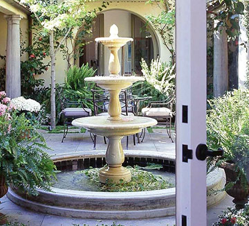 Various shape of outside fountain design info center - Spanish style water fountains ...