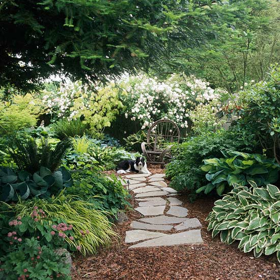 Garden pathway design ideas info center - Garden pathway design ideas with some natural stones trails ...