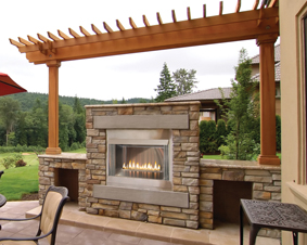 Outdoor American Fireplace is Belong to the Demotic Culture