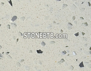Beige artificial quartz slab