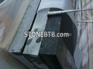 Blue limestone slab