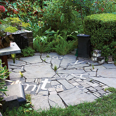 Landscaping ideas with stone info center - Camif tuin ...