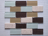 glass mix marble mosaic ST106
