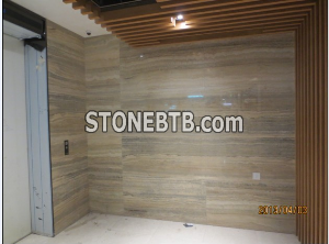 Polished Italian Grey Silver Travertine Stone