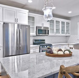 Carrara Marble Application For Kitchen Counter Top