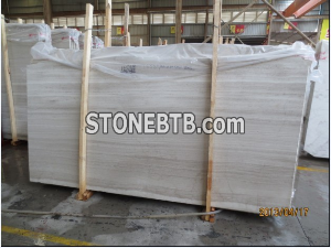 Super White Wooden Marble Slab