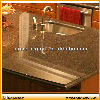 Brown granite kitchen countertop