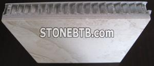 Aluminium honey-comb and marble composite slab