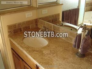 Travertine Habano - Bath Vanity