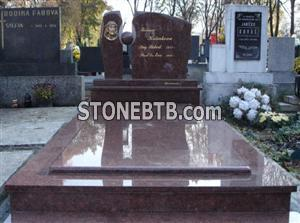 Multicolor Red Granite Monument