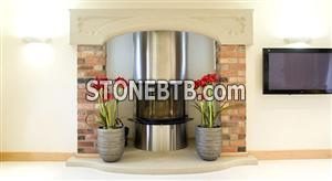 Natural stone fire surrounds
