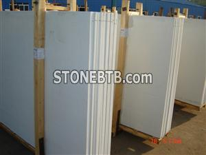 White crystallized glass panel