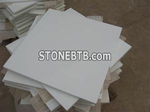 White crystallized glass Stone Tiles