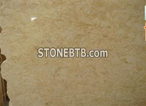 Golden flower beige marble