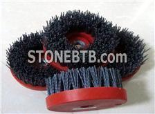 Circular abrasive brushes