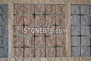 G562 Maple Red Granite Cobblestone paver