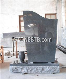 G654 Granite Gravestone With Vase