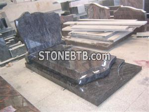 Bahama blue granite monument