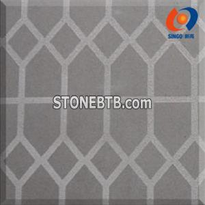 Black Mongolia Tile with geometrical Finish