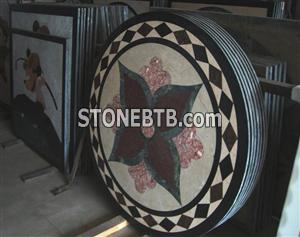 Marble Waterjet Floor Medallion
