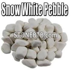 Snow white river stone