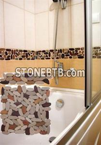 Bathroom pebble tile