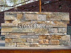 Plain Yellow quartzite stone veneer