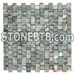Nine dragon green marble mosaic