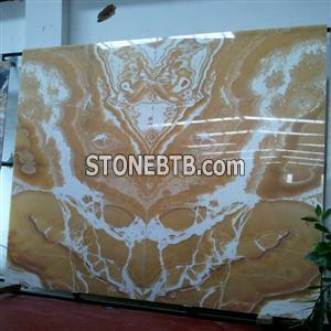 DL Yellow Onyx Slab