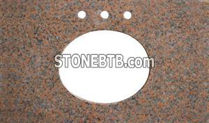 G562 Maple Red Granite Bath Top