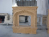 China beige marble fireplace
