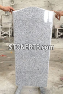 Russia style G603 white granite monument JD 11