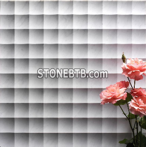 3D CNC natural marble interior paneling for walls
