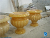 Onyx Yellow Home Decor Big Vase/Planter Pots, Yellow Onyx Vase