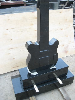 Guitar shape headstone granite monument special design tombstone