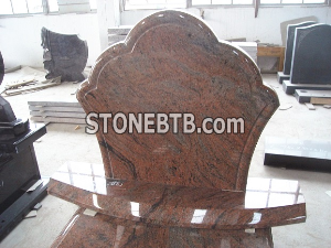 Poland multicolor red granite monument