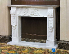 Fireplace in Valakas,Traditional Style White Marble Fireplace Mantel,White Marble Fireplace