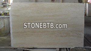 Light Travertine Vein Cut Honed Unfilled