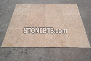 Light Travertine Cross Cut Honed Filled
