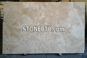 Travertine Light CC Honed Unfilled Slabs
