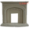 Rome Beige Marble Carved Fireplaces - HestiaMade