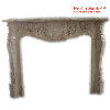 Beige Marble Fireplaces carved, designed for Living Room