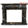 Black Portoro Marble Fireplaces - HestiaMade