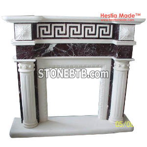 White Marble Fireplaces - Hestia Made