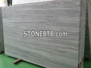 Silver Cloudy Marble Slab