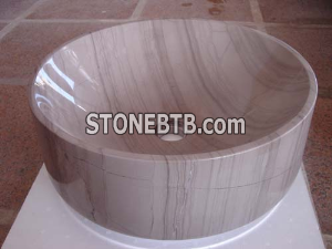 Athens Wooden Marble Vessel Sinks