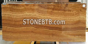 Natural Yellow Wood Vein Marble Slab Tile